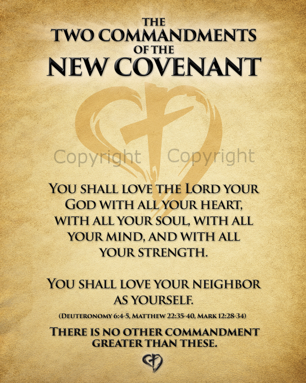 The Two Commandments of the New Covenant (Magnet)